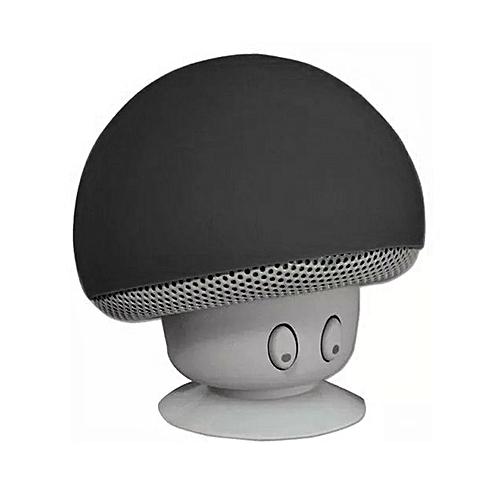 Bluetooth Speaker Mushroom Stereo Loudspeakers Waterproof Mini Subwoofer Black