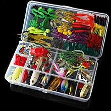 131pcs Fishing Lures Kit Mixed Hard Lures Soft Baits Minnow Crank Popper VIB Sequins Wobbler Frog