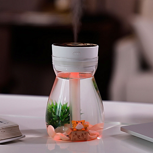380mL Portable Air Humidifier Noiseless USB Charging Humidifier With 7 Color LED