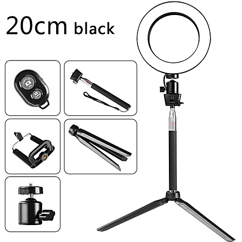 DC5V 5W 64 LED Ring Light Round Selfie Camera Lamp With