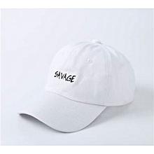 Savage Baseball Snapback Cap-white 370e608b2b65