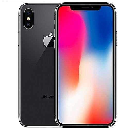 IPhone X 5.8-Inches Super AMOLED (3GB RAM, 256GB ROM) IOS 11.1.1, (12MP + 12MP) + 7MP 4G LTE Smartphone With Tempered Glass And Back Cover
