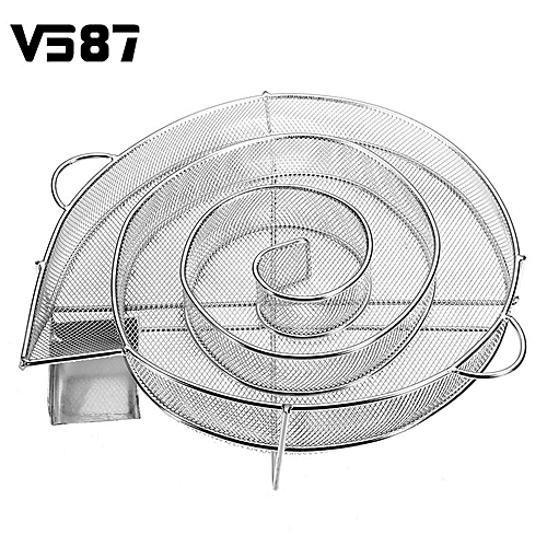 Stainless Steel Wood Chips Grill Basket Smoker BBQ Cold Smoking Generator Tray
