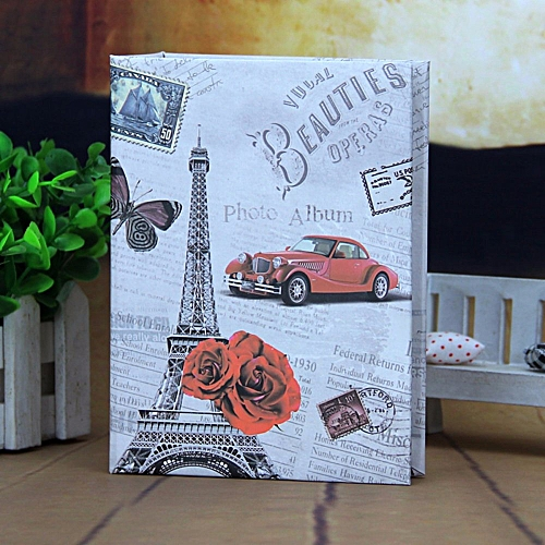 2pcs Photo Album 100 Photos Storage Case Family Wedding Memory Picture Film Book Eiffel Tower