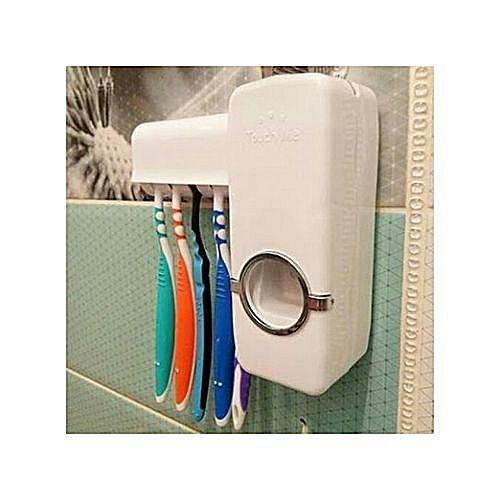 Toothpaste Dispenser & Brush Holder