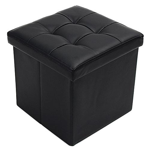 Leather Footstool Sofa Ottoman Folding Footrest Seat Lounge Home Storage Box