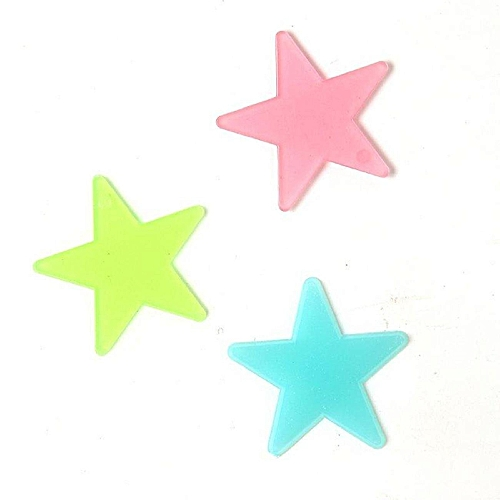 100pcs Stars Luminous Fluorescent Wall Stickers For Party Kids Bedroom Decor