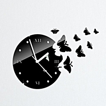 Butterfly 3D DIY Mirror Living Room Home Modern Design Decoration Wall Clock for sale  Nigeria