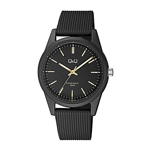 Unisex Casual Wear Rubber Strap Solar Powered Watch - VS12J005Y - Black