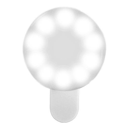 Selfie Ring Light 3 Level Brightness USB Rechargeable Phoneswhite