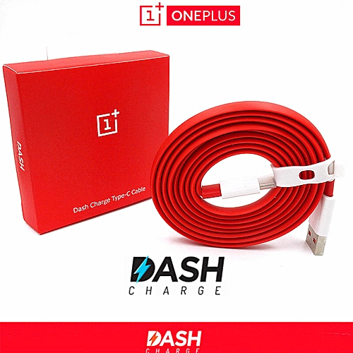 Dash Charge Type C Fast Charge USB Data Cable Red For Oneplus 6 5T 5 3T