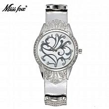 20d20415e8a Miss Fox Gold Watch Women Dress Flower Article Montre Homme Marque De Luxe  Stainless Steel Back