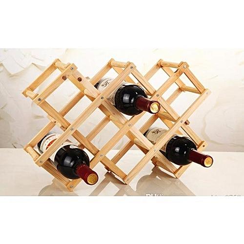 Folding Wooden Wine Shelf