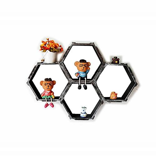 Hexagonal Cube Wall Shelves Storage Decor Display Shelving Hanging NEW