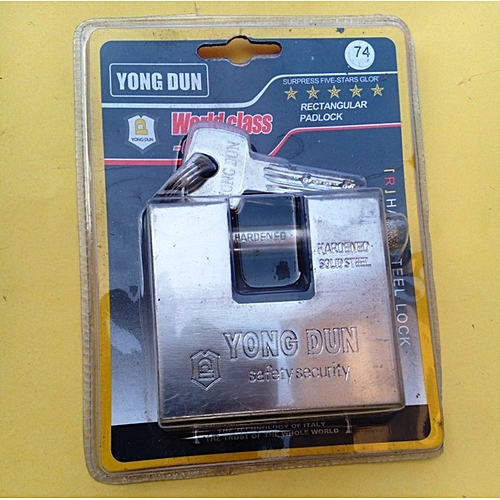 Generic Young Don Heavy Duty Rectangular Top Security Padlock - 74mm