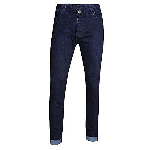 Quality Men's Casual Slim Fit Jeans - Blue