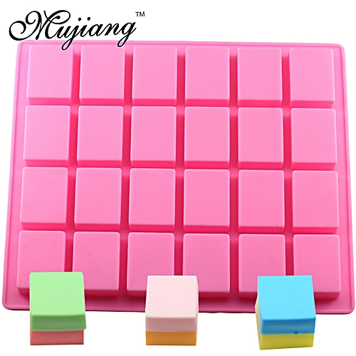 24 Cavity Rectangle Square Cake Silicone Baking Molds Handmade Soap Mold DIY Ice Tray Jelly Cake Candy Chocolate Moulds