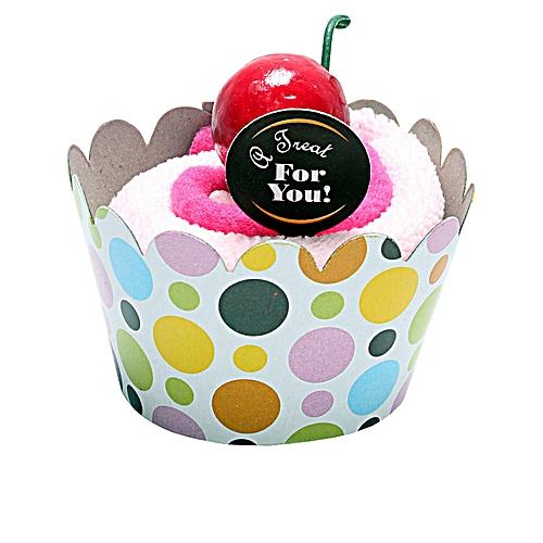 Cupcake Design Face Towel