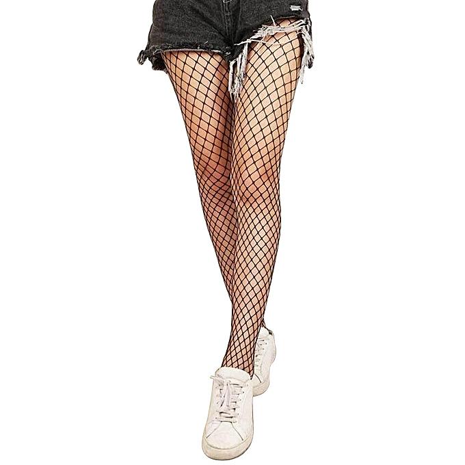 0db709428 Women Sexy Fishnet Top Mesh High Thigh Stockings Hosiery Pantyhose Long  Socks