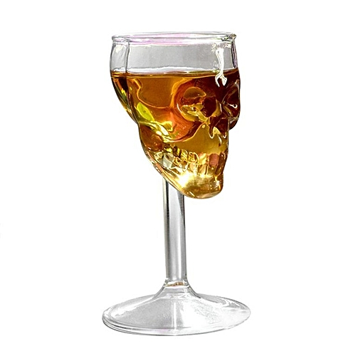 75ML High Temperature Resistance Skull Glass Transparent Whiskey Drinking Cup