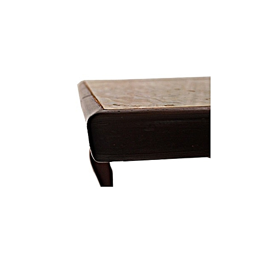 Wooden Brown Tiled Table Abattant