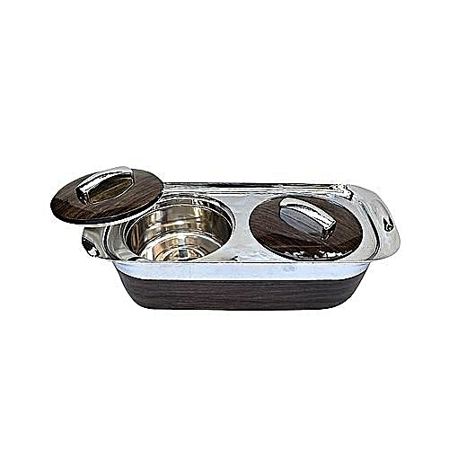 2 In 1 Food Serving Dish