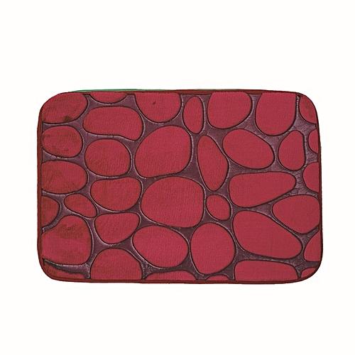 3D Bathroom Pad Toilet Absorbent Bedroom Door Mat Anti-Slip Rug Bath Rose Red