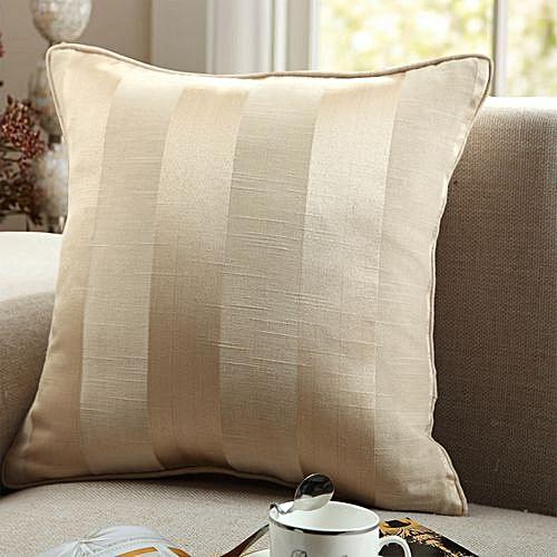 European Simple Style Stripes Pillow - Golden