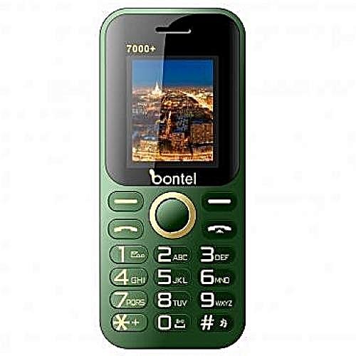 7000+-1.77 Inch 7000 MAh Power Bank Phone- Green