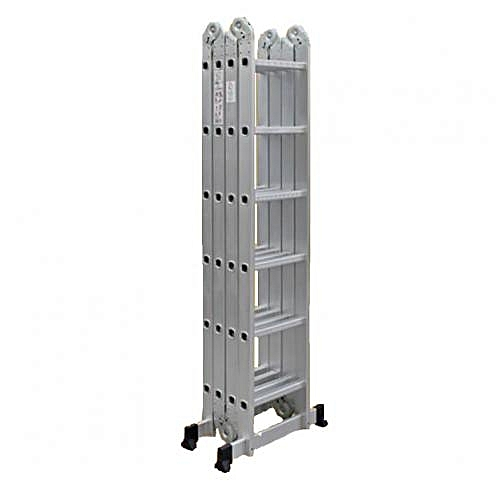 4x6 Foldable Multipurpose Aluminium Ladder With Twin Stabilizers - Meet EN131