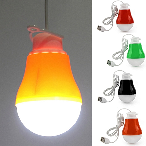 DC 5V 5W Portable LED Bulb USB Light Reading Lamp White Light USB Power