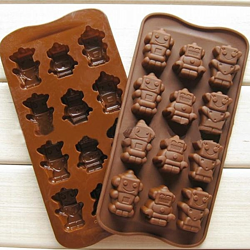 High Temperature Resistant Robot Silicone Cake Mold