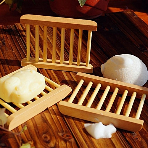 Trapezoid Natural Wood Soap Holder Soap Box Bath Accessories