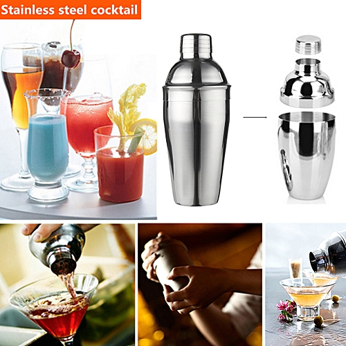 Stainless Steel Cocktail Shaker Set Mixer Drink Bartender Martini Tools Bar Kit
