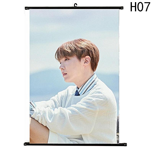 Eleganya New Fine BTS Character Pattern High Quality Exquisite Wall D茅cor Scroll Poster H07