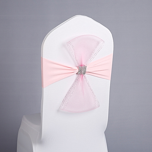 Chair Sashes Bows Elastic Chair Ribbon Back Tie Bands For Wedding Party Ceremony Banquet
