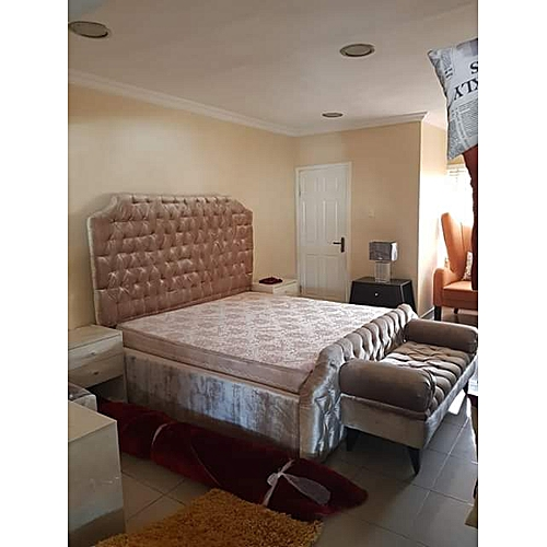 Gallant 6by6 Bed With Mattress-Free Lagos Delivery