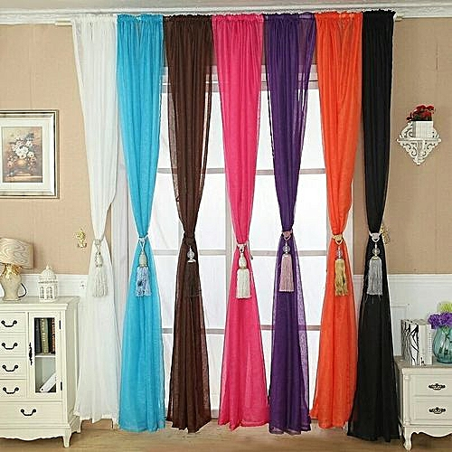Curtain Window - Plain Voile, 1-Piece , 183cm Wide X 230cm Height Drop - Color Variation Options