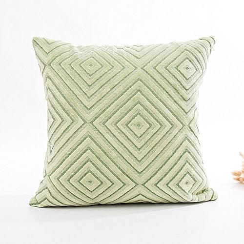 Fashion Linen Flocking Pillow Sofa Waist Throw Cushion Cover Home Decor Cushion Cover
