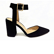 1f099a016d18 Ankle Strap Block Heel Pump - Black