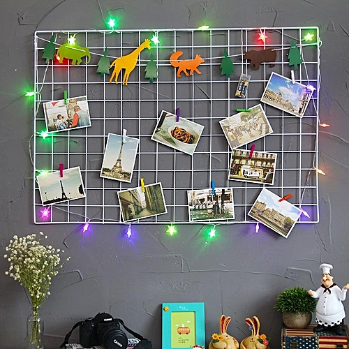 Multi-Function Metal Mesh Grid Panel Decor Photo Wall Eur Style Art Display New White