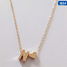 e4d97df26b4f Eleganya 26 Letters Long Sweater Chain Necklaces Tiny Love Heart Pendants  For Women Collier Lovers Gift