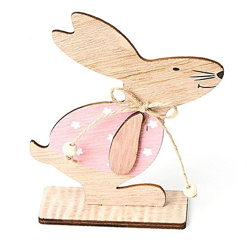JM01128 Easter Wooden Rabbit Nordic Style Ornaments