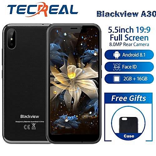 """A30 - 5.5"""" 3G Android 8.1 2500mAh 2GB/16GB P-Sensor Face ID EU - Black"""