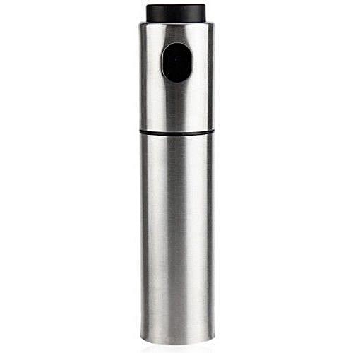 Silver Stainless Steel Olive Oil Spraying Bottle Vinegar Sprayer 135ml (SILVER)