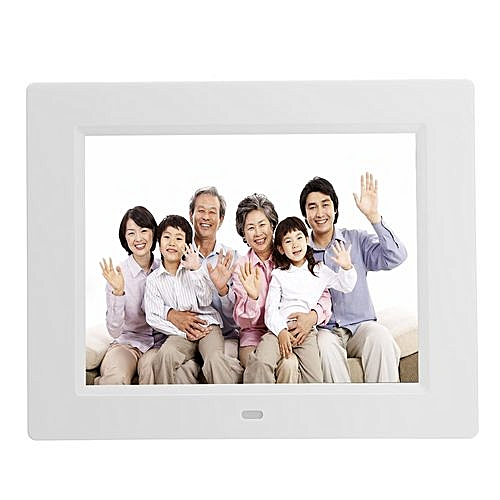 8'' TFT LCD HD Digital Photo Audio Video Music Clock Frame Auto Player W/ Remote White US