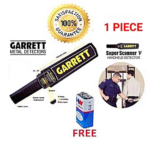 Super Handheld Metal Detection Scanner With FREE 9 Volt Battery - 1 Piece