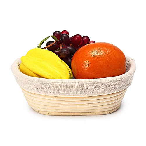 Multi-Size Rattan Brotform Banneton Bread Proofing Baskets Dough Proving Storage # 21*14*8cm