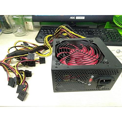PSU PFC 700 W Watt Silent Fan ATX 24-PIN 12CM PC Computer Power Supply 80+ (EU Plug)