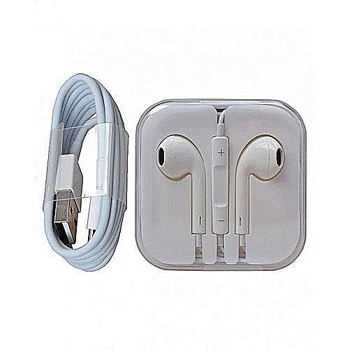 IPhone Earpiece Plus USB Cable - White
